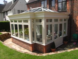 A different conservatory manufacturer, bespoke lean to conservatory